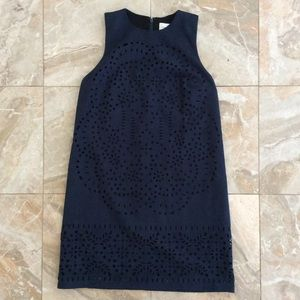 Abercrombie and Fitch Navy Blue Eyelet Dress XS